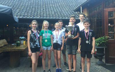 Molenberg-beker voor jeugdkampioen Jesse Telgenhof oude Koehorst